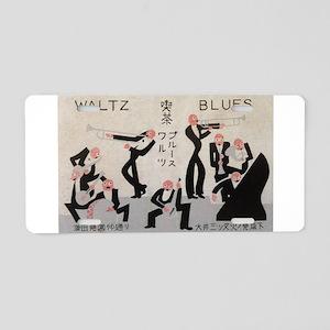 Jazz Band, Music, Vintage Poster Aluminum License