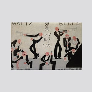 Jazz Band, Music, Vintage Poster Rectangle Magnet