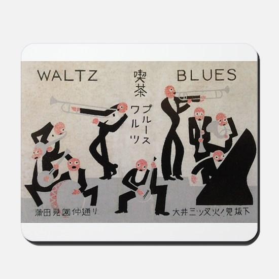 Jazz Band, Music, Vintage Poster Mousepad
