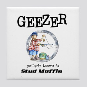 Geezer Tile Coaster