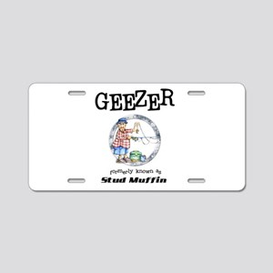 Geezer Aluminum License Plate