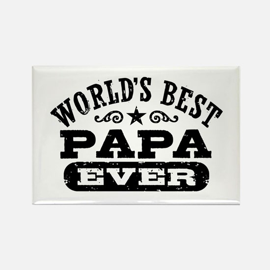 World's Best Papa Ever Rectangle Magnet