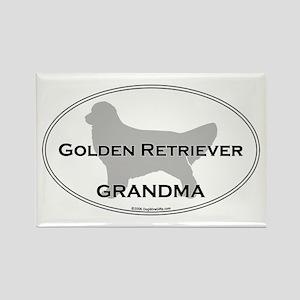 Golden GRANDMA Rectangle Magnet