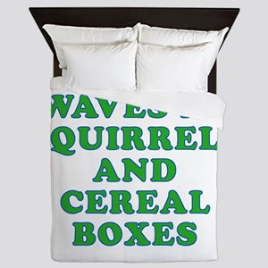 Waves at Squirrels and Cereal Boxes Queen Duvet