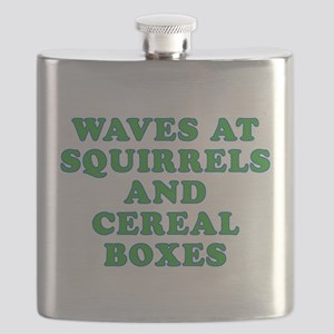 Waves at Squirrels and Cereal Boxes Flask