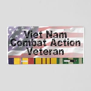 VN Combat Vet Aluminum License Plate