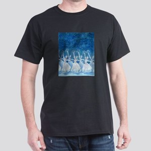 Dance of the Snowflakes Black T-Shirt