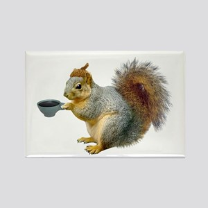 Beatnik Squirrel Rectangle Magnet