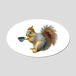 Beatnik Squirrel 20x12 Oval Wall Decal