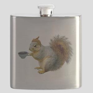 Beatnik Squirrel Flask