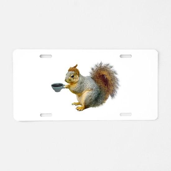 Beatnik Squirrel Aluminum License Plate