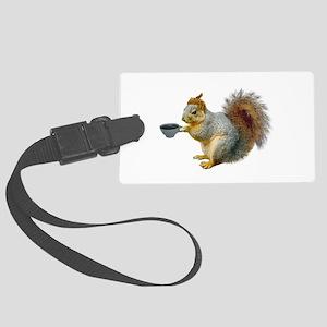 Beatnik Squirrel Large Luggage Tag