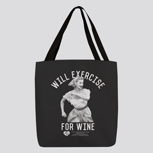 Lucy Wine Polyester Tote Bag