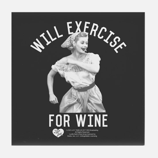 Lucy Wine Tile Coaster