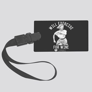Lucy Wine Large Luggage Tag