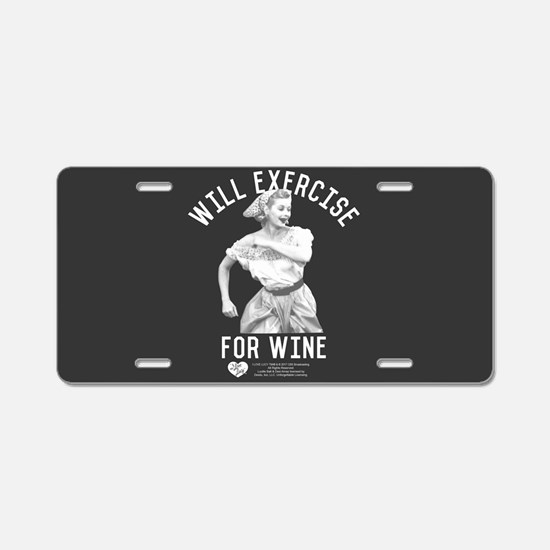 Lucy Wine Aluminum License Plate