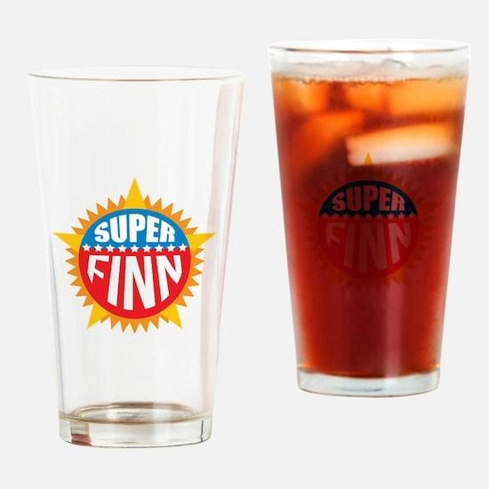 Super Finn Drinking Glass