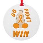 Orange GO FIGHT WIN Ornament