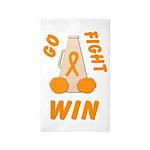 Orange GO FIGHT WIN 3'x5' Area Rug