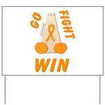 Orange GO FIGHT WIN Yard Sign