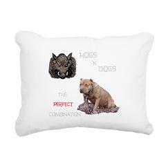 Hogs N Dogs Rectangular Canvas Pillow
