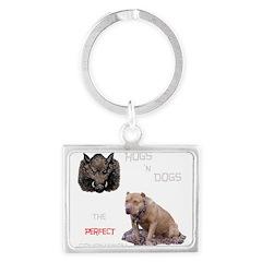 Hogs N Dogs Landscape Keychain