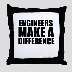 Engineers Make A Difference Throw Pillow