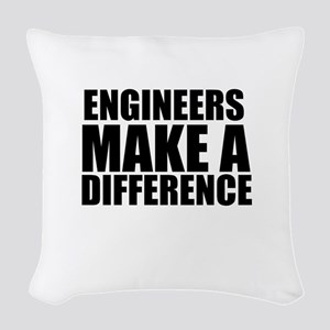 Engineers Make A Difference Woven Throw Pillow