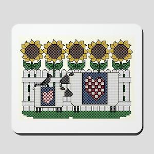Sheep and Sunflowers Mousepad