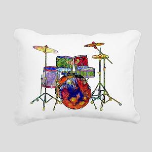 Wild Drums Rectangular Canvas Pillow