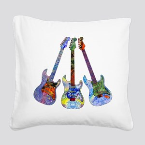 Wild Guitar Square Canvas Pillow