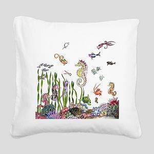 Ocean Life Square Canvas Pillow