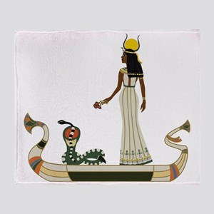 Egyptian God with snake on boat - Stadium Blanket
