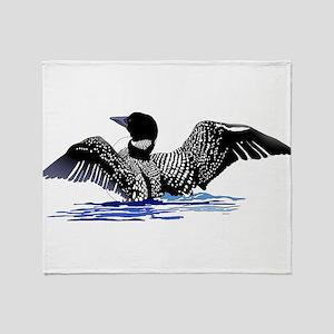 loon on lake Throw Blanket