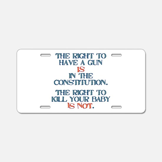 Rights Aluminum License Plate