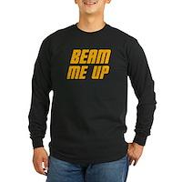 Beam Me Up Long Sleeve Dark T-Shirt