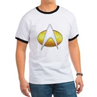 Star Trek Classic Badge Insignia Ringer T