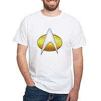 Star Trek Classic Badge Insignia White T-Shirt