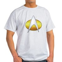 Star Trek Classic Badge Insignia Light T-Shirt