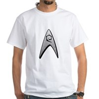 Star Trek Engineer Badge Insignia White T-Shirt