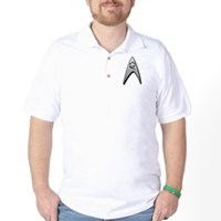 Star Trek Engineer Badge Insignia Golf Shirt