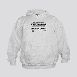 Maine Coon breed designs Kids Hoodie