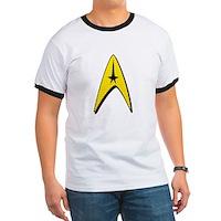 Star Trek Captain Badge Insignia Ringer T