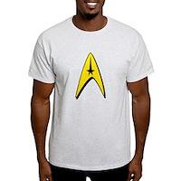 Star Trek Captain Badge Insignia Light T-Shirt