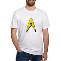 Star Trek Captain Badge Insignia Fitted T-Shirt