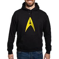 Star Trek Captain Badge Insignia Hoodie (dark)