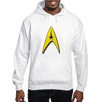 Star Trek Captain Badge Insignia Hooded Sweatshirt