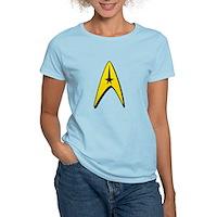 Star Trek Captain Badge Insignia Women's Light T-S
