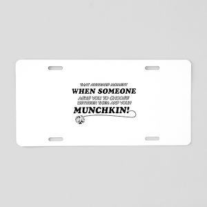 Munchkin breed designs Aluminum License Plate