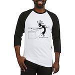 billiards_2000X2000 black on white Baseball Jersey